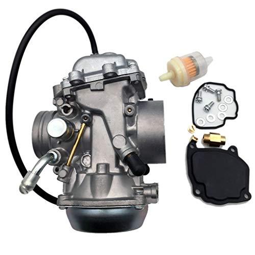fish Accessoires Moto Moteur Carburateur Carb Filtre à Carburant de  Remplacement Set pour Suzuki King Quad 300 LTF300F LTF4WDX