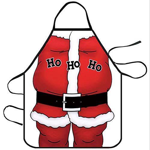 Mediffen Lustige Küchenschürze Unisex Muscle Male Schürzen Creative Cartoon Schürzen, White 9-Santa Claus, - Santa Claus Kostüm Muster