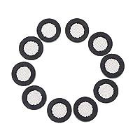 Yardwe New 10PCS 11.6mm Inner Diameter Faucet With Mesh Rubber Gasket Anti-blocking Filter Metal Hose Coupling Filter Washers For Water Tap Use(Black)