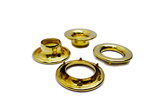 Size 2 Solid Brass Spurred Eyelets