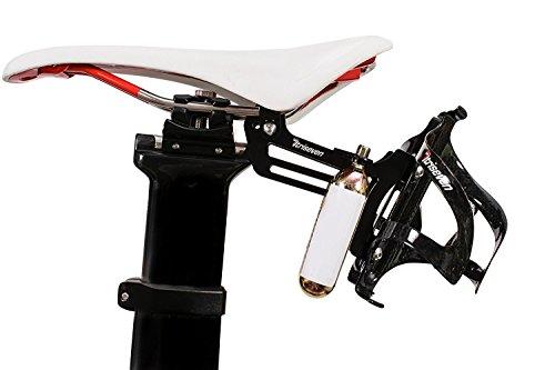 Triathlon Sattelhalter TRISEVEN 30 für Trinkflaschen, für 2 Kartuschen CO2, für Fahrradrucksack -