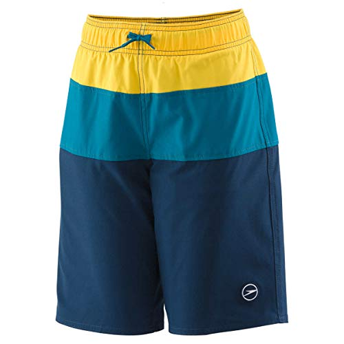 Speedo Jungen Boys' Swim Trunks-Color Block Volley 18