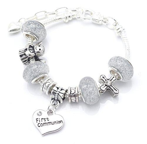 Cabine de bijoux première Communion/confirmation Pour Enfant Style Pandora charme Bracelet pour femme avec boîte cadeau filles Bijoux
