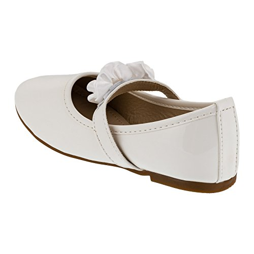 Festlich schöne Mädchen Schuhe in 3 Farben #147ws Weiss
