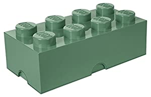 LEGO 4004 Ladrillo de Almacenamiento de 8 espigas, Caja de almacenaje apilable, 12 l, Legion/Sand Green, 50 x 25 x 18 cm