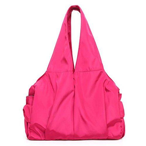 Fansela Fashion Freizeittasche Handtasche Damen Bag Schultertasche Nylon Tasche Shoulder Bag shopper, Grün Pink