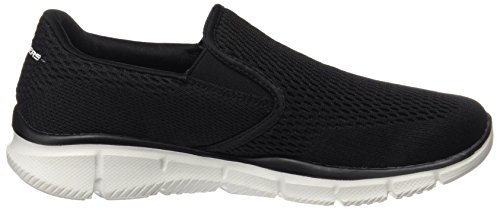 Skechers Equalizer Double Play, Baskets Basses Homme Noir (Bkw)