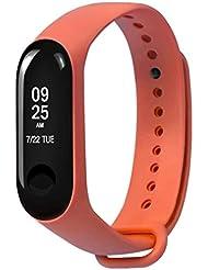 Xiaomi Mi Band 3 Fitnessarmband mit Herzfrequenzmessung, Armband: Silikon Orange, inkl. Wechselarmband: Schwarz - Silikon