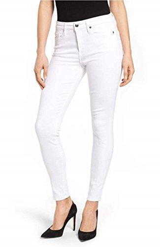Ansh Fashion Wear Women's Denim Jeans - Regular Fit Denims for Women - Mid Rise - Full Length- White  available at amazon for Rs.699