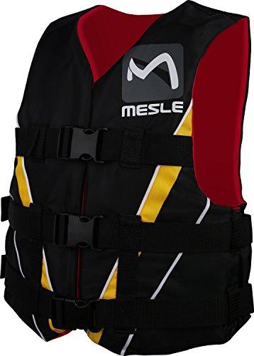 MESLE Schwimmweste Vario PE, 50N Dual-Size Schwimmhilfe, schwarz-rot-gelb