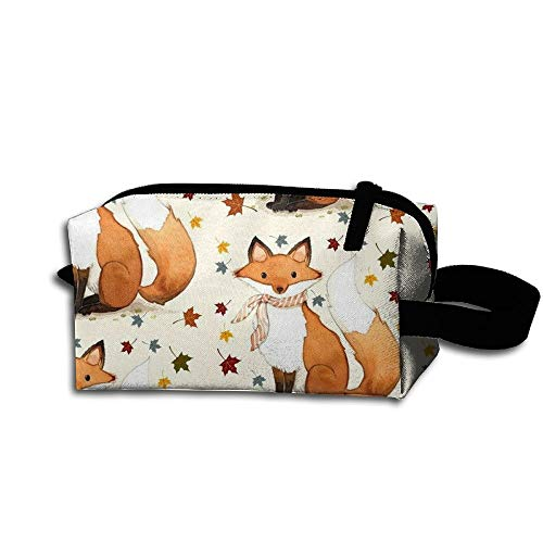Autumn Fox Travel Bag Printed Multifunction Portable Toiletry Bag Cosmetic Makeup Pouch Case Organizer for Travel. -