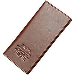 Winsale Cartera de cuero para hombre Monedero Billetera con Bolsillo para Crédito Tarjetas Ranuras Portatarjetas extraíble para Identificación Tarjetas Crédito Licencia de conducir (marrón)