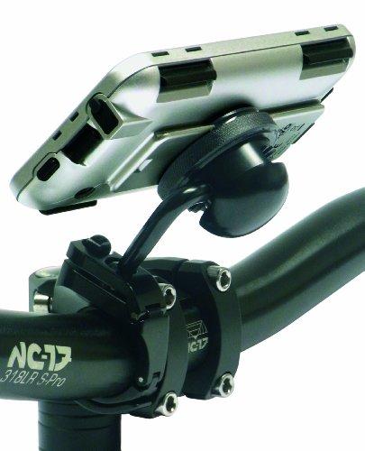 NC-17 Fahrradhalterung Inkl. Iphoneschutzhülle Alu Bike Mount Iphone, matall black, 4009 -