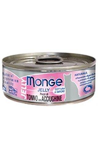 Monge Gatto Jelly Naturale Gr.80 Pezzi Tonno/Acciughe
