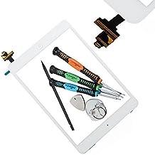 Trop Saint® Vitre Tactile Facade iPad Mini 1/2 Blanc + Adhesif + La Puce IC - Façade Compatible Uniquement avec iPad Mini 1 et 2 Retina