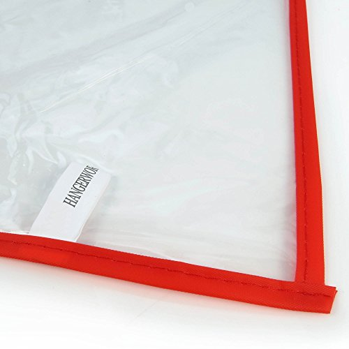Hangerworld-100-cm-40-SuitGarment-Clothes-Cover-Bags-Pack-of-6-Clear-with-Mixed-Trim-Colours