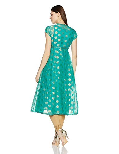 42309b5c645 Rangriti Women s Anarkali Kurta (RMMFUSION F8056 Turquoise 38 ...