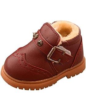 Zapatos de Bebé,Ouneed ® Niño niños niñas chicos algodón Plus Martin zapatillas de invierno zapatos de nieve gruesa