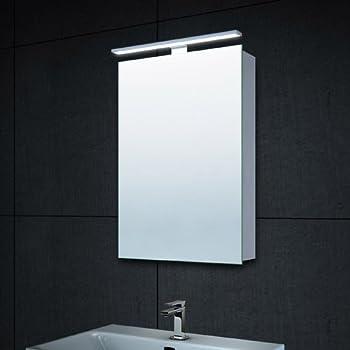 Lux-aqua Design Alu LED Beleuchtung Spiegelschrank Gäste-WC mit ... | {Design spiegelschrank 70}