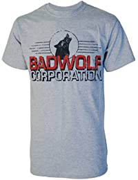 Badwolf Corporation Mens Grey Dr Who Inspired T Shirt
