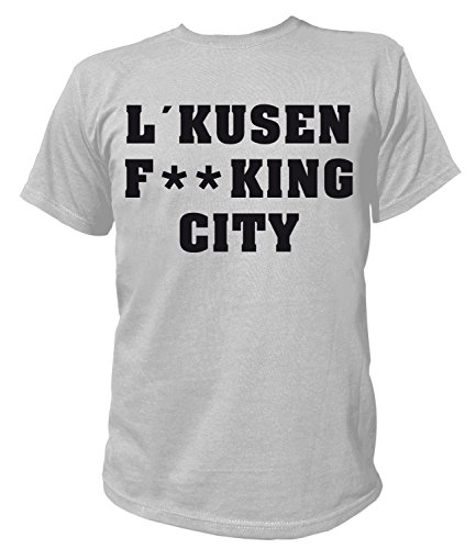 Artdiktat Herren T-Shirt - Leverkusen Fucking City Größe M, Grau