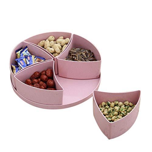 Coddington Getrocknete Früchte Imbiss-Platte Wohnzimmer Teilgitterplatte Fruchtschale mit Küche Herausnehmbare Unter Gitter PP Frucht-Behälter Kunststoff-Abdeckung