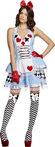 Alice im Wunderland Kost�m 2-teilig M�rchen Kleid Damen Gr (Wunderland Kostüme Miss)