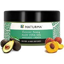 Naturma Peach and Avocado Aloe Vera Gel, Natural and Organic, Detox Age Defence, 100gm