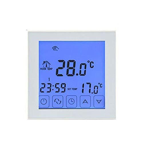 Blau Touch-screen-thermostate (BlackEdragon HY03WE-1 Intelligentes Raumthermostat WiFi Elektrische Heizung Temperaturregler Regler App Regelbarer Thermostat)