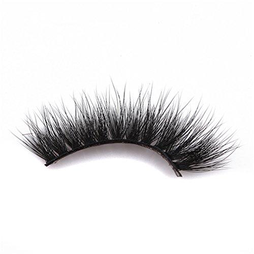 SUNSKYOO 3D Kunstfell Nerz gefälschte Wimpern natürliche Lange bilden chaotisch Flirty gefälschte Wimpern lockige leichte falsche Wimpern für Frauen, schwarz (# 68)