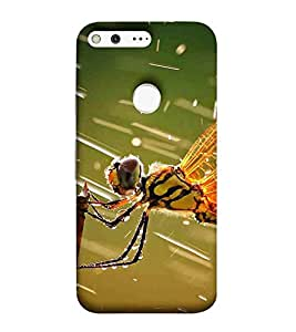For Google Pixel XL bird, bird on stick, butterfly Designer Printed High Quality Smooth Matte Protective Mobile Pouch Back Case Cover by BUZZWORLD