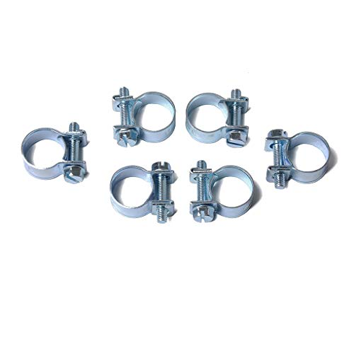 Lorsoul 10PCS / Set 11-13mm Carbon Steel verzinkte Oberfläche Mini Clamp Kraftstoff Schlauchschelle Luftschlauch Clip Industrial Electronic -