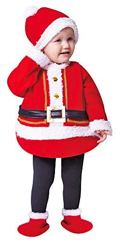 nachtsmann Kostüm Santa Claus für Kinder 4-TLG. - Gr. 116 - Verkleidung Weihnachten Jungen Mädchen Heiligabend ()