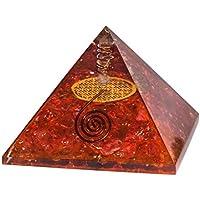 Rot Onyx Energetische Kristall Pyramide mit Blume des Lebens für Chakra Balancing, Energie Generator, Reiki Healing... preisvergleich bei billige-tabletten.eu