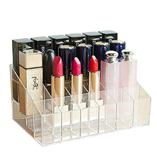 Boîte de Rangement de Rouge À Lèvres de Maquillage Unités Cosmétiques 24 de Grille pour L'affichage de Pinceaux À Maquillage, de Rouges À Lèvres, de Vernis À Ongles