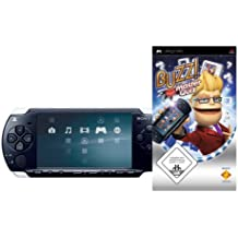 PlayStation Portable - PSP Konsole Slim & Lite, black + Buzz! Master Quiz