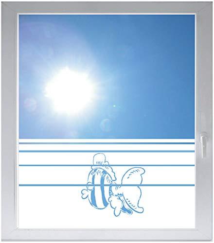 INDIGOS UG Sichtschutzfolie Glasdekorfolie Fensterfolie mit Motiv satiniert Blickdicht - E804 Gestreifte Fische - 1000 mm Länge - 500 mm Höhe Streifen - Satiniert Mit Streifen
