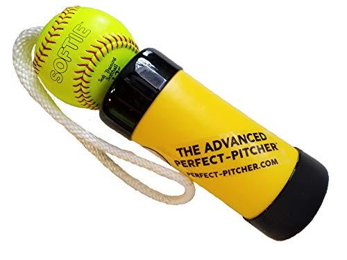 The Xelerator Der Advanced Perfect Pitcher Fastpitch Softball Pitching Trainer und Aufwärmwerkzeug mit 30,5 cm Premium Leder Indoor Ball für besseren Halt -