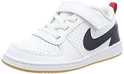 Nike Court Borough Low (TDV), Sneaker Bambino, Bianco (White/Obsidian/Univ Red/Gum Lt Brown 105), 25 EU