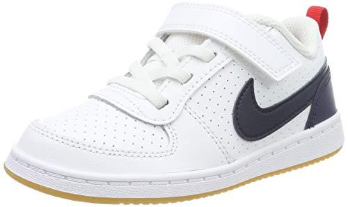 Nike Court Borough Low (TDV), Zapatillas de Gimnasia para Niños, Blanco (White/Obsidian/Univ Red/Gum Lt Brown 105), 26 EU
