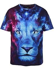 Verano Moda Tendencia Impresión Patrón Casual Chaqueta de Manga Corta 's Camisa 3d de Gran Tama?o Casual Camiseta,Figura,SG