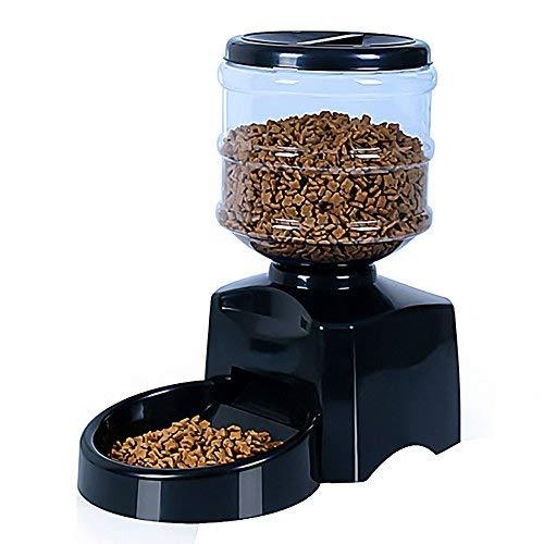 Automatischer Futterspender,Automatischer Futterspender für Katze und Hund ,Pet Feeder mit Timer, LCD Bildschirm und Ton-Aufnahmefunktion, 5.5Liter Von AnGeer