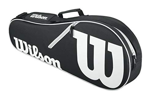 Wilson Schlägertasche Advantage II Triple Racket Bag Tasche, Black/White, 71 x 22.5 x 29 cm