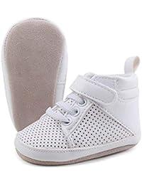 e407e14ba5681 OOSAKU Chaussures bébé garçon Baskets Montantes en Daim Chaussures à  Semelle en Cuir Souple Bottes Chaudes