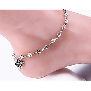 Arpoador Damen-Knöchelkette Kristall elegant Anhänger Party Hochzeit Schmuck C
