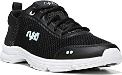 Ryka Womens Illumine Walking Shoe, Black/Neon Flamingo, US 9 M