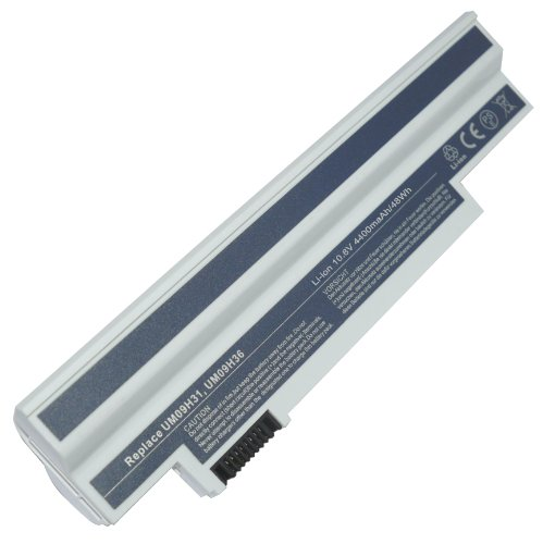 10,80V 4400mAh Batterie de remplacement pour ACCEL Aspire One 532h-2Ds, Aspire One 532h-2Ds_W7616, Aspire One 532h-2Ds_W7625, Aspire One 532h-B123, Aspire One 532h-B123F, Aspire One 532h-CBK123G, Aspire One 532h-CBW123G, Aspire One 532h-CPK11, Aspire One 532h-R123, Aspire One 532h-W123, Aspire One 532h-W123F
