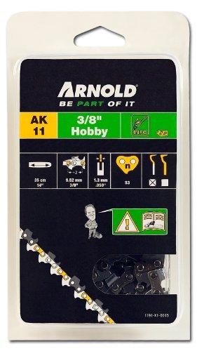 Arnold 1191-X1-0015 Sägekette 3/8 Zoll Hobby, 1.3 mm, 53 Treibglieder, 35 cm Schwert