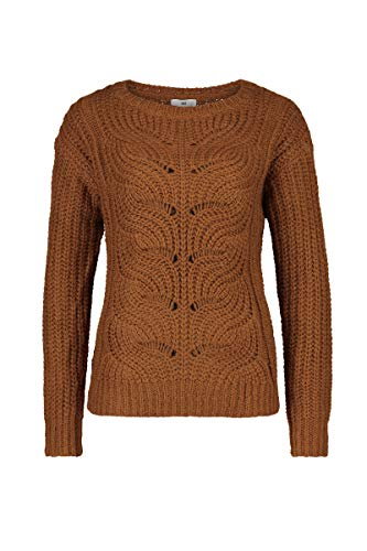 Relaxed Fit-wolle Pullover (CKS WOMEN Damen Pullover Ninette,Braun,M)