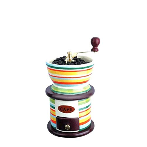Retro-Hand Gehaltene Keramik-Kaffeemühle